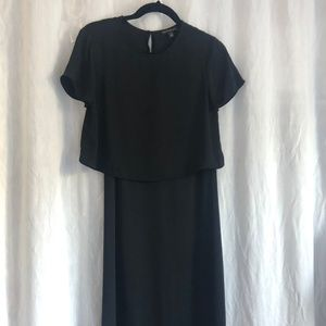 Banana Republic Black Sheath Dress with Top Set